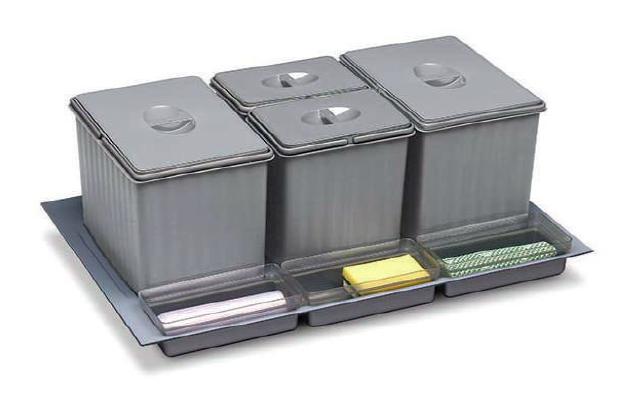 Cubos de reciclaje Icono
